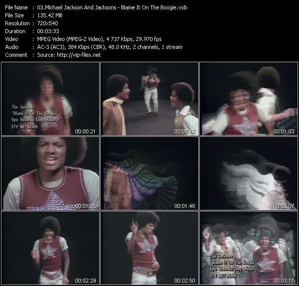 Michael Jackson And The Jacksons (Jackson 5) - Blame It On The Boogie