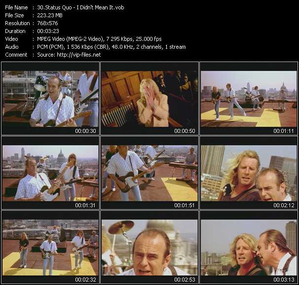 Status Quo - I Didn't Mean It