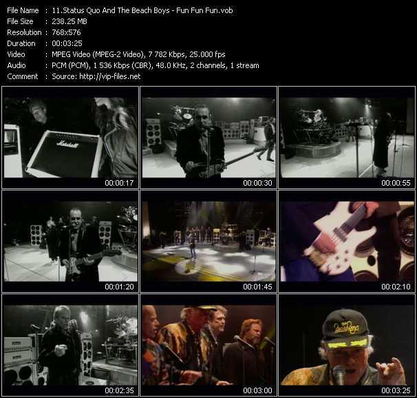 Status Quo And The Beach Boys - Fun Fun Fun