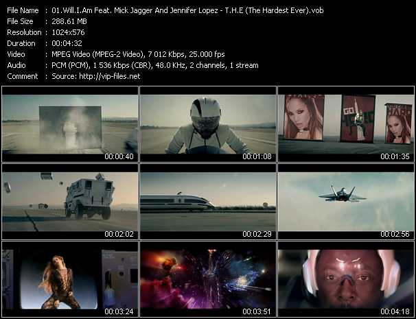 Will.I.Am Feat. Mick Jagger And Jennifer Lopez - T.H.E (The Hardest Ever)