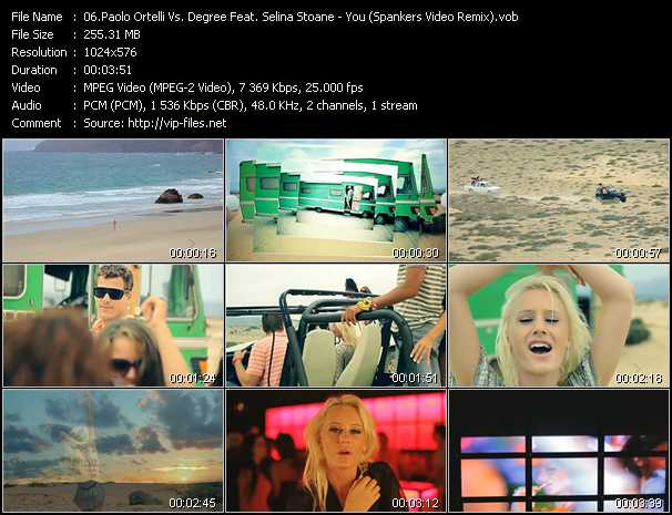 Paolo Ortelli Vs. Degree Feat. Selina Stoane - You (Spankers Video Remix)