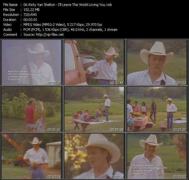 Ricky Van Shelton - I'll Leave This World Loving You