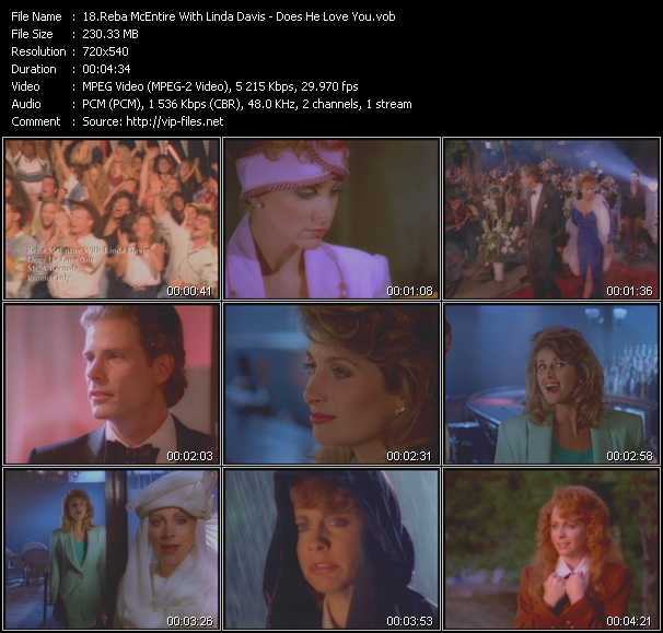 Reba McEntire With Linda Davis - Does He Love You