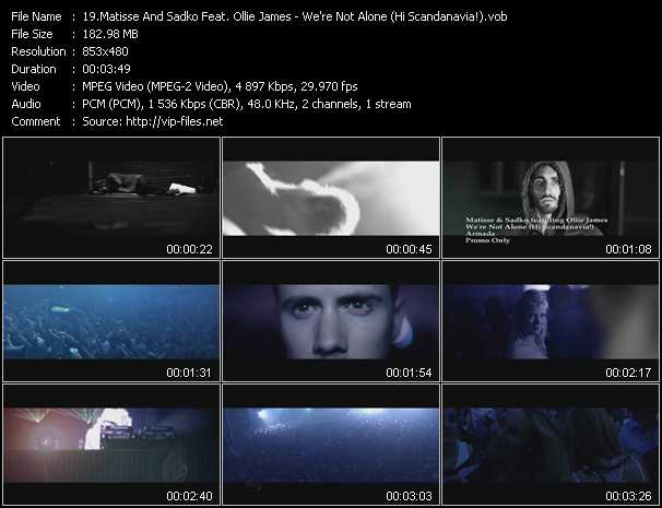 Matisse And Sadko Feat. Ollie James - We're Not Alone (Hi Scandanavia!)
