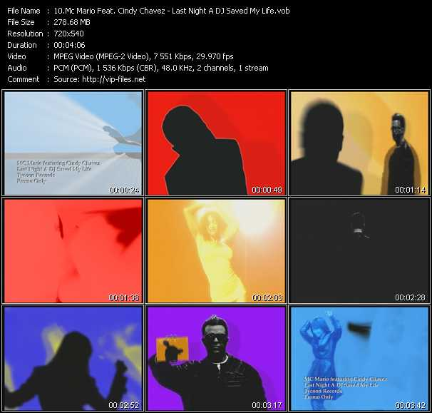 Mc Mario Feat. Cindy Chavez - Last Night A DJ Saved My Life