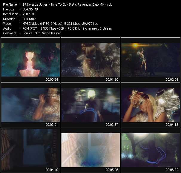 Kwanza Jones - Time To Go (Static Revenger Club Mix)