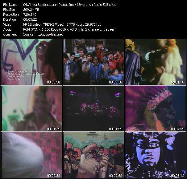 Afrika Bambaataa - Planet Rock (Swordfish Radio Edit)