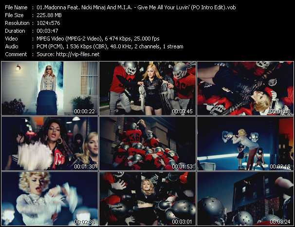 Madonna Feat. Nicki Minaj And M.I.A. - Give Me All Your Luvin' (PO Intro Edit)
