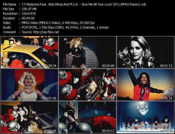 Madonna Feat. Nicki Minaj And M.I.A. - Give Me All Your Luvin' (PO LMFAO Remix)