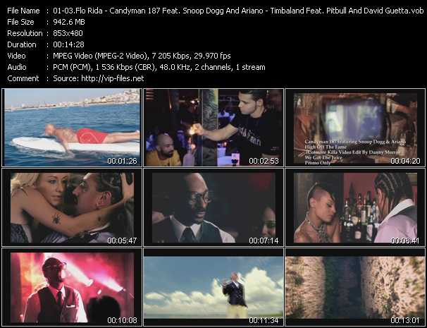 Flo Rida - Candyman 187 Feat. Snoop Dogg And Ariano - Timbaland Feat. Pitbull And David Guetta - Good Feeling - High Off The Fame (Cutmore Killa Video Edit By Danny Morris) - Pass At Me (PO Intro Edit)