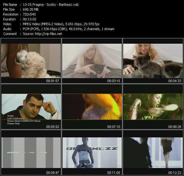 screenschot of Fragma - Scotty - Barthezz video