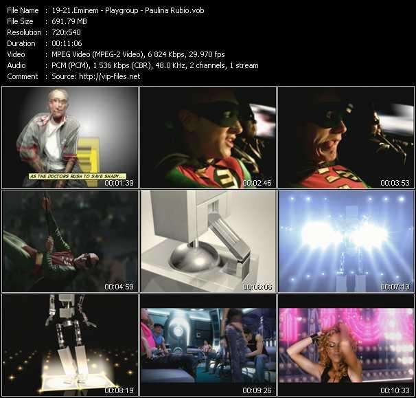 screenschot of Eminem - Playgroup - Paulina Rubio video
