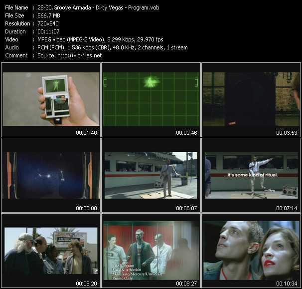 screenschot of Groove Armada - Dirty Vegas - Program video