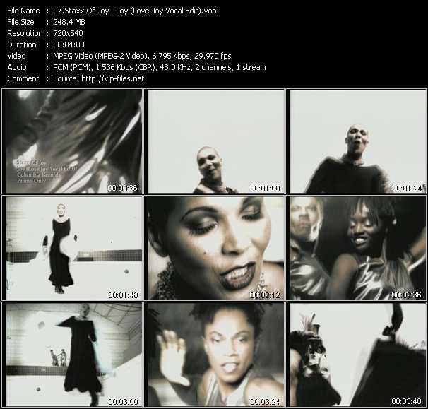 Staxx Of Joy - Joy (Love Joy Vocal Edit)