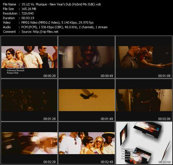 U2 Vs. Musique - New Years Dub (Hybrid Mix Edit)
