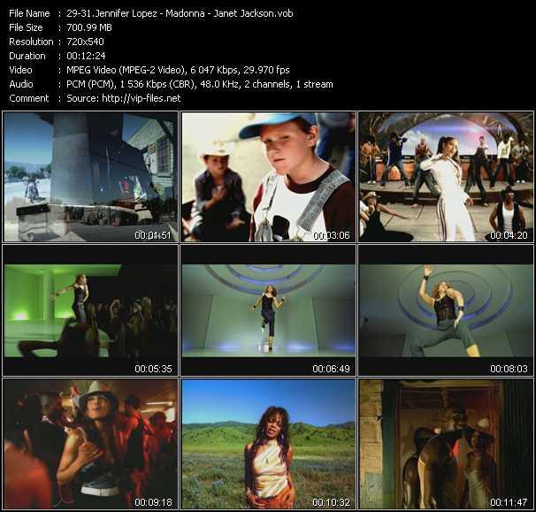 Jennifer Lopez - Madonna - Janet Jackson - I'm Real (Dezrok Club Edit) - Beautiful Stranger (Calderone Club Edit) - Someone To Call My Lover (Total 80's Edit)