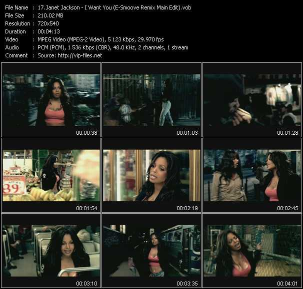Janet Jackson - I Want You (E-Smoove Remix Main Edit)