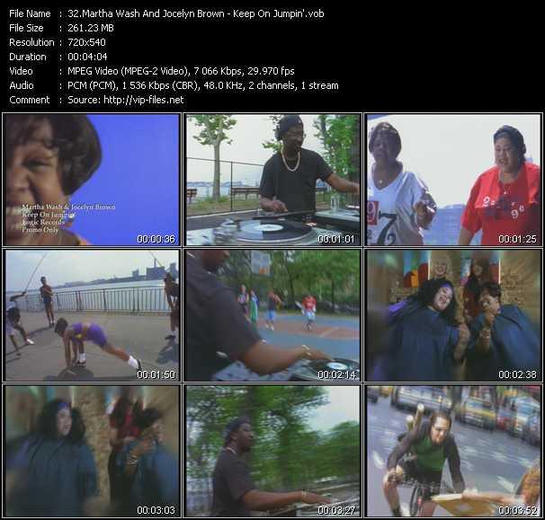 Martha Wash And Jocelyn Brown - Keep On Jumpin'