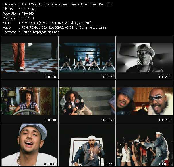 Missy Elliott - Ludacris Feat. Sleepy Brown - Sean Paul - Work It - Saturday (Oooh! Ooooh!) - Gimme The Light