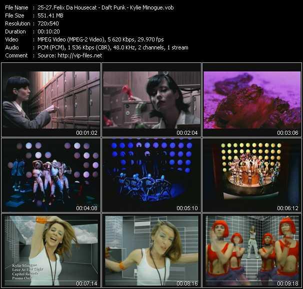 Felix Da Housecat - Daft Punk - Kylie Minogue - Silver Screen (Shower Scene) - Around The World - Love At First Sight