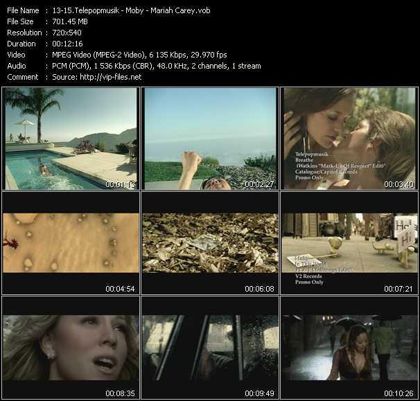 Telepopmusik - Moby - Mariah Carey - Breathe (Watkins Mark-Us Of Respect Edit) - In This World (T And F Moltosugo Edit) - Through The Rain (Maurice Joshua Club Edit)