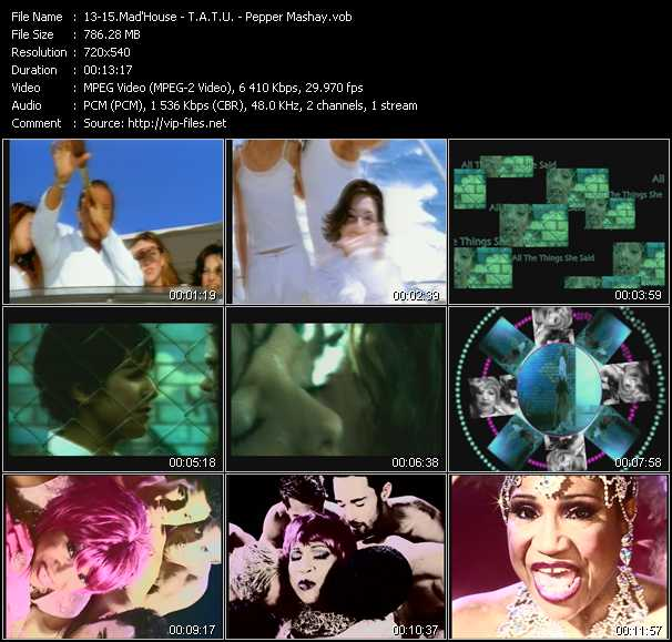 Mad'House - T.A.T.U. - Pepper MaShay - Holiday - All The Things She Said (Extension 119 Club Vocal Edit) - I Can't Stop (Club Remix)