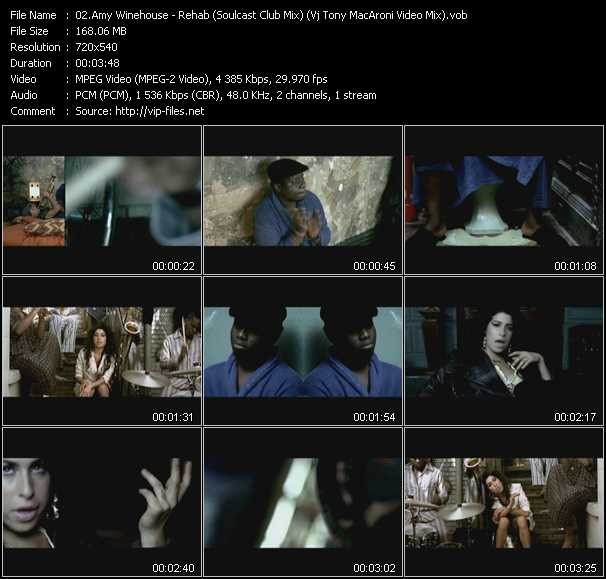 Amy Winehouse - Rehab (Soulcast Club Mix) (Vj Tony MacAroni Video Mix)