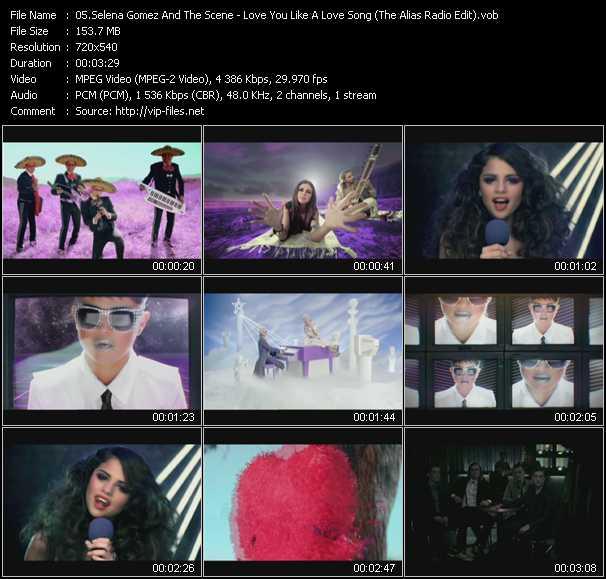 Selena Gomez And The Scene - Love You Like A Love Song (The Alias Radio Edit) (Vj Tony MacAroni Video Mix)