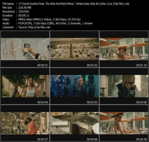 David Guetta Feat. Flo Rida And Nicki Minaj - Where Dem Girls At (John Cruz Club Mix) (Vj Tony MacAroni Video Mix)