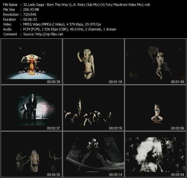 Lady Gaga - Born This Way (L.A. Riots Club Mix) (Vj Tony MacAroni Video Mix)
