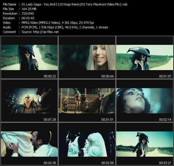 Lady Gaga - You And I (10 Kings Remix) (Vj Tony MacAroni Video Mix)