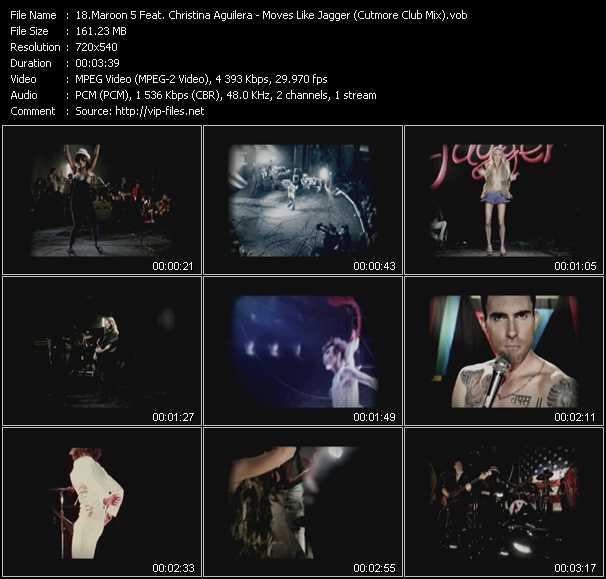 Maroon 5 Feat. Christina Aguilera - Moves Like Jagger (Cutmore Club Mix) (Vj Tony MacAroni Video Mix)