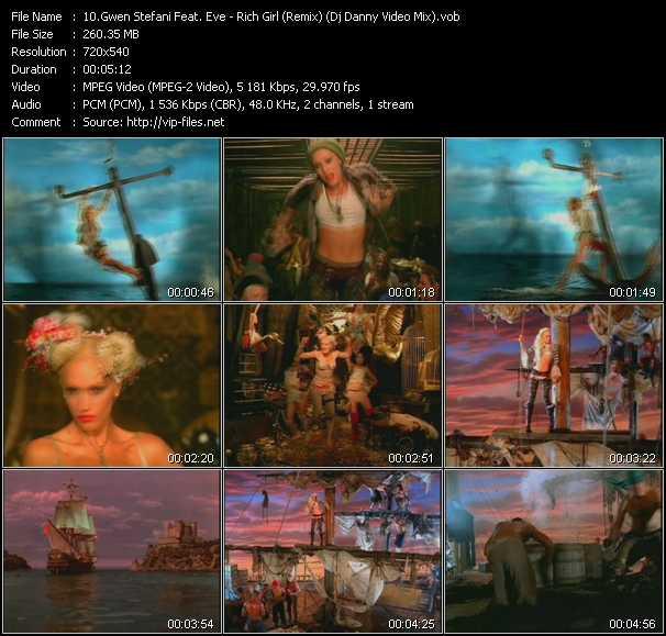 Gwen Stefani Feat. Eve - Rich Girl (Remix) (Dj Danny Video Mix)