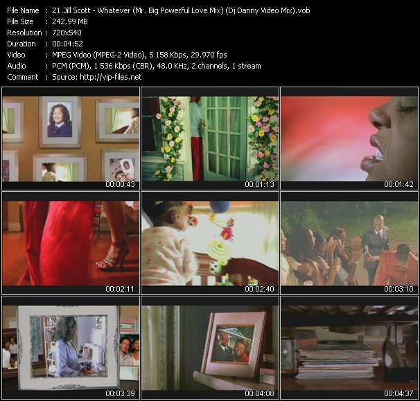 Jill Scott - Whatever (Mr. Big Powerful Love Mix) (Dj Danny Video Mix)