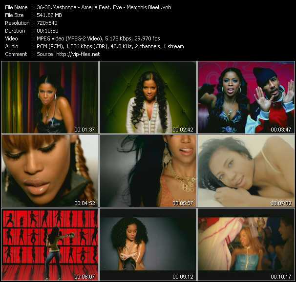 Mashonda - Amerie Feat. Eve - Memphis Bleek - Back Of Da Club - 1 Thing (Remix) - Like That