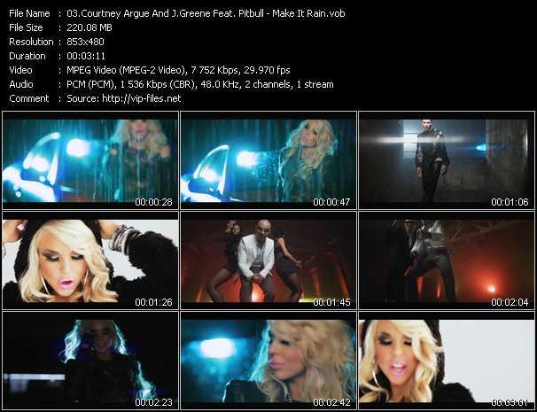 Courtney Argue Vs. Jeremy Greene Feat. Pitbull - Make It Rain