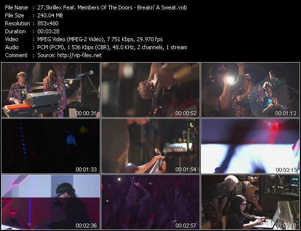 Skrillex Feat. Members Of The Doors - Breakn' A Sweat