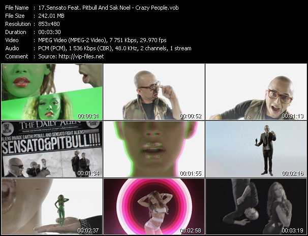 Sensato Feat. Pitbull And Sak Noel - Crazy People