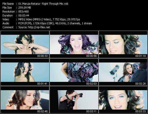 Maruja Retana - Right Through Me