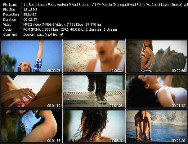 Sasha Lopez And Andreea D Feat. Broono - All My People (Menegatti And Fatrix Vs. Jack Mazzoni Remix)
