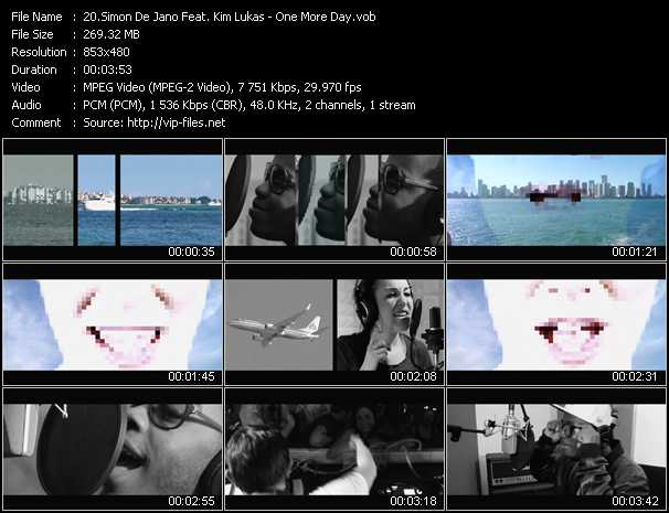 Simon De Jano Feat. Kim Lukas - One More Day