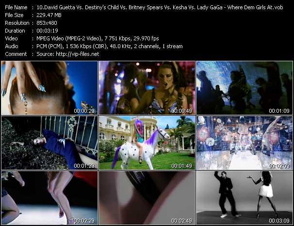 David Guetta Vs. Destiny's Child Vs. Britney Spears Vs. Kesha Vs. Lady GaGa - Where Dem Girls At (Megamix Mash)