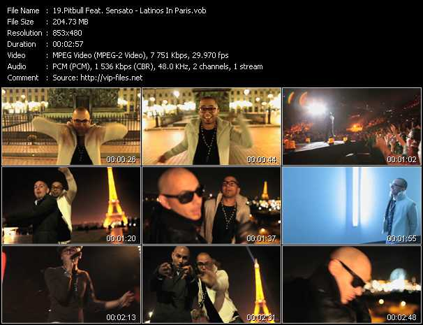 Pitbull Feat. Sensato - Latinos In Paris