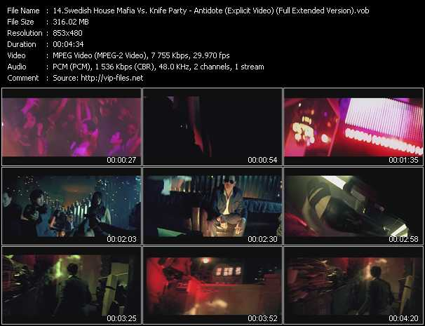 Swedish House Mafia Vs. Knife Party - Antidote (Explicit Video) (Full Extended Version)