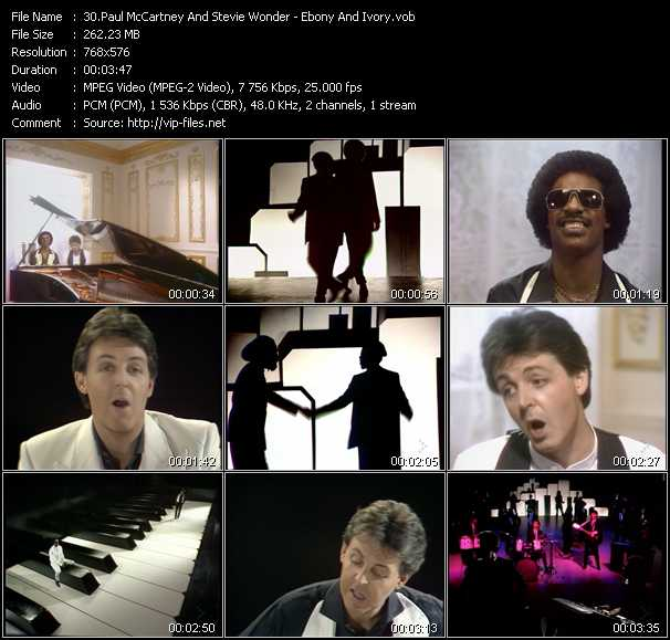 Paul McCartney And Stevie Wonder - Ebony And Ivory