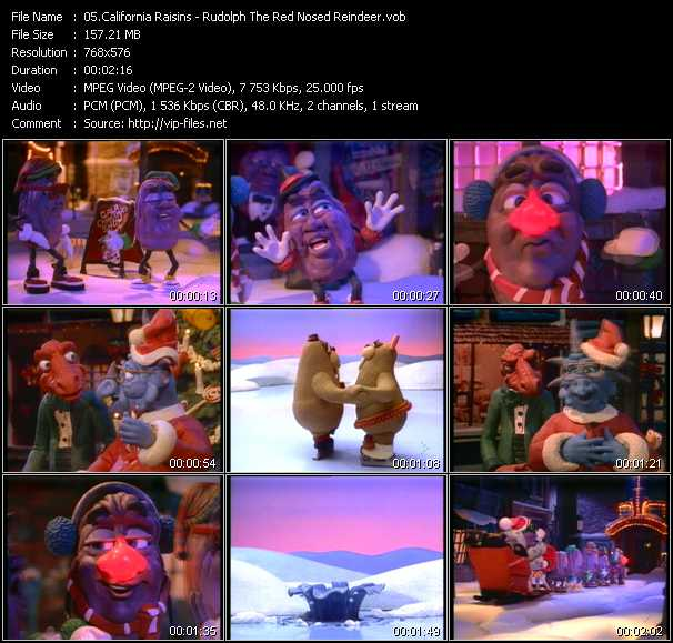 California Raisins - Rudolph The Red Nosed Reindeer