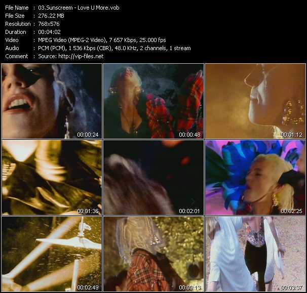 Sunscreem - Love U More