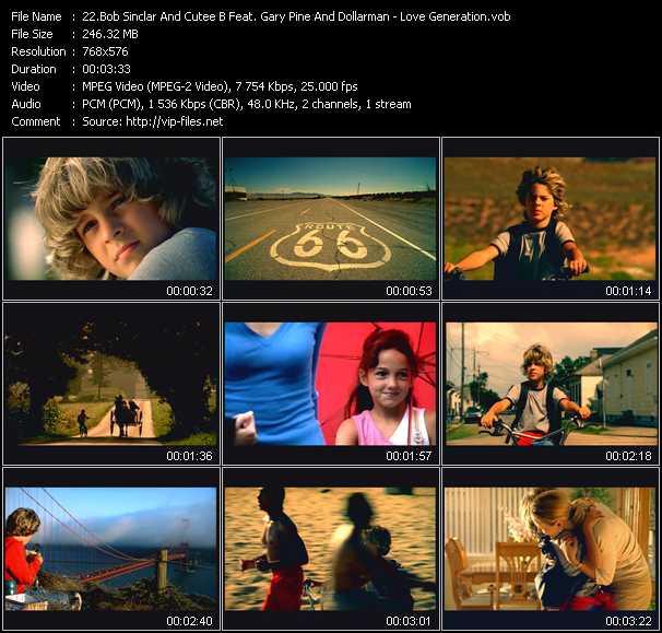Bob Sinclar And Cutee B Feat. Gary Pine And Dollarman - Love Generation