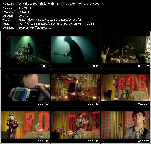 Fall Out Boy - Thnks Fr Th Mmrs (Thanks For The Memories)