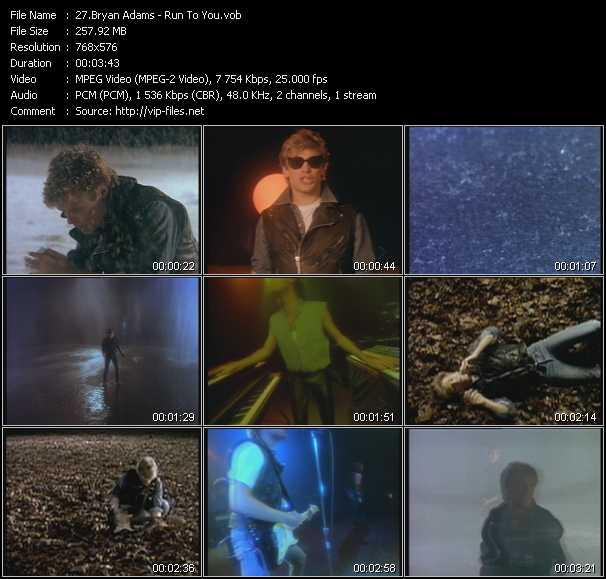 B. Adams - Run To You